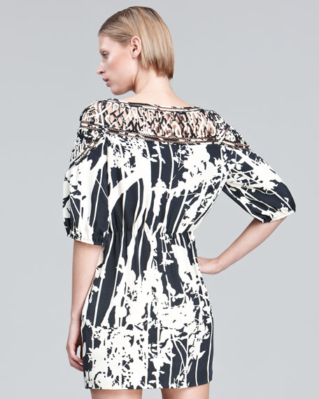 Arbor-Print Sheath Dress