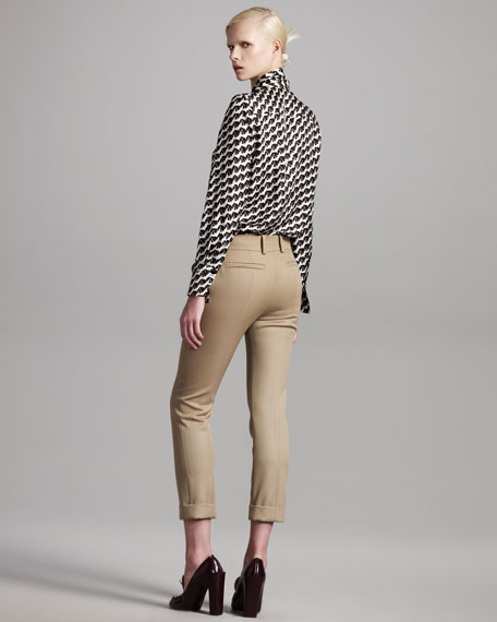 Cropped Wool Pants