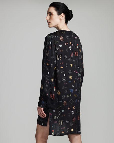 Monogram-Print Shift Dress