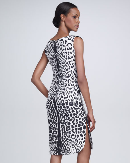 Snow Leopard-Print Dress