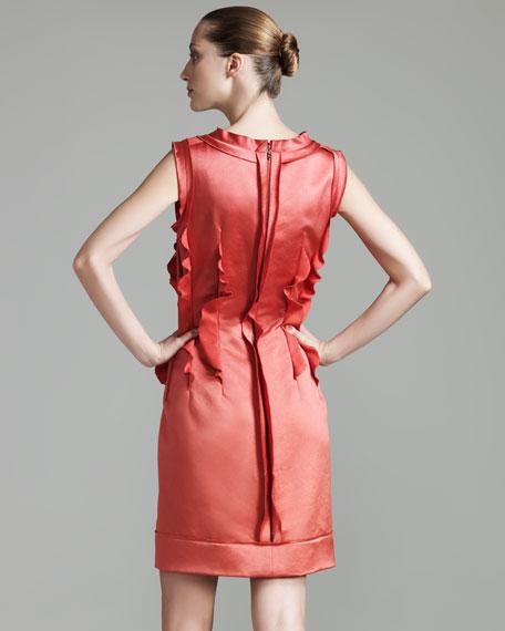 Pleated Sheath Dress