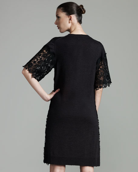 Lace-Overlay Dress