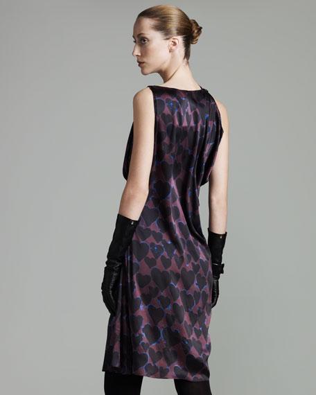 Heart-Print Dress