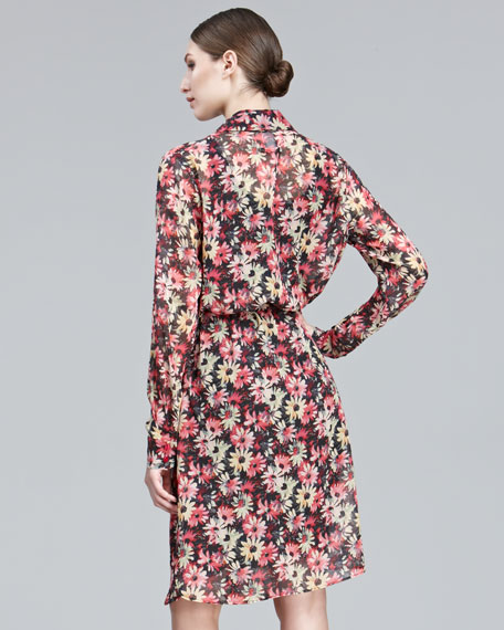 Daisy-Print Shirtdress