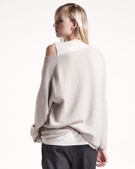Oversized Paillette Pullover