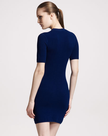 Thermal Knit Sheath Dress