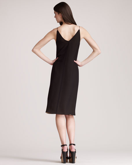 Crepe de Chine Slip Dress