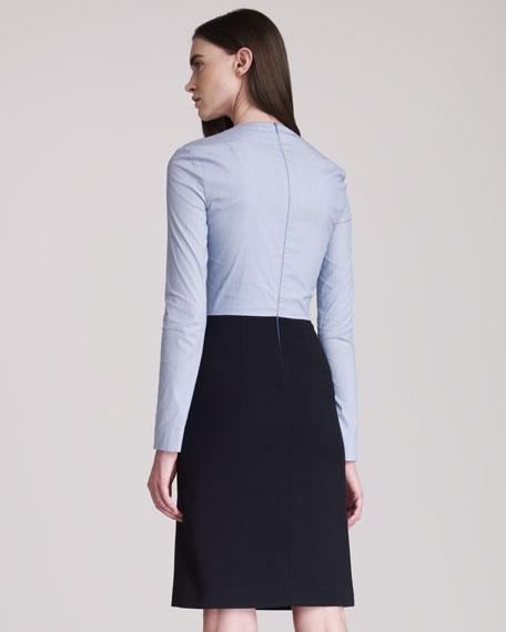 Pinstripe-Top Combo Dress