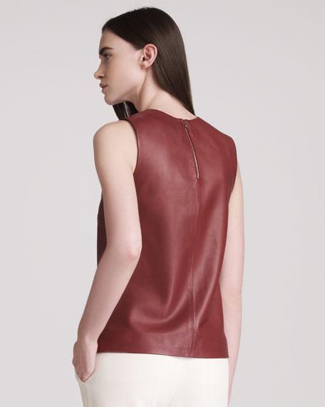 Leather Sleeveless Top