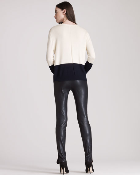 Leather Leggings With Ankle Slits