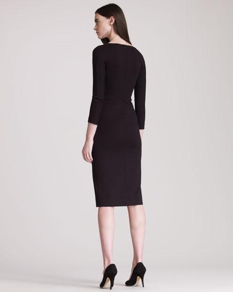 Three-Quarter-Sleeve Jersey Dress