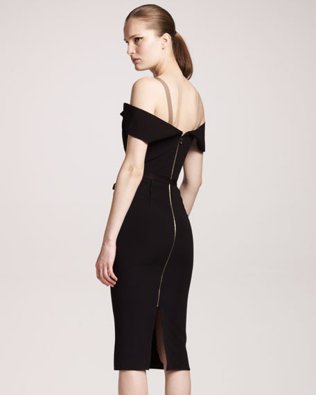 Herbert Crepe Dress, Black