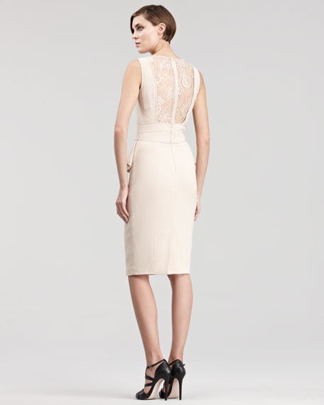 Lace-Inset Cocktail Dress