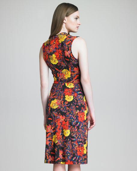 Veronica Printed Draped Dress