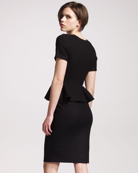 Wool-Jersey Peplum Dress