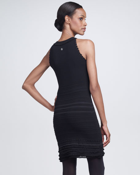 Sleeveless Tiered Sheath Dress