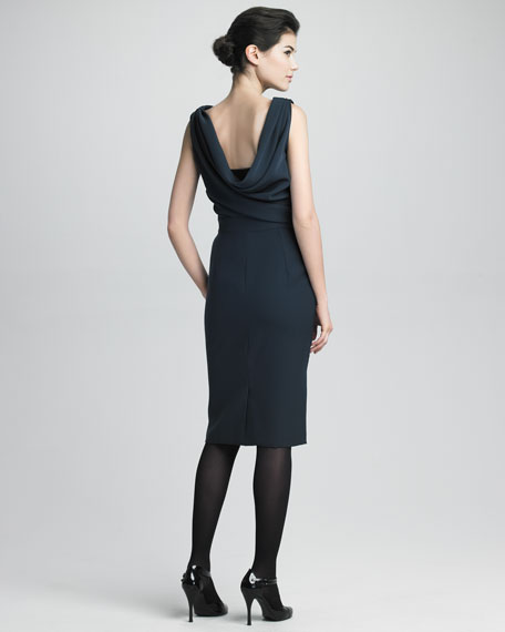 Reverse Cowl-Neck Dress