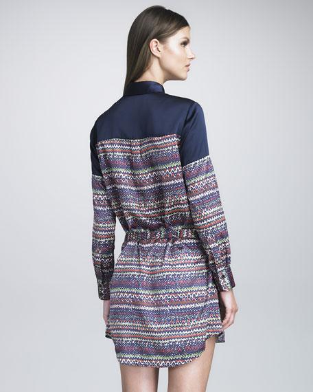 Tweed-Printed Shirtdress