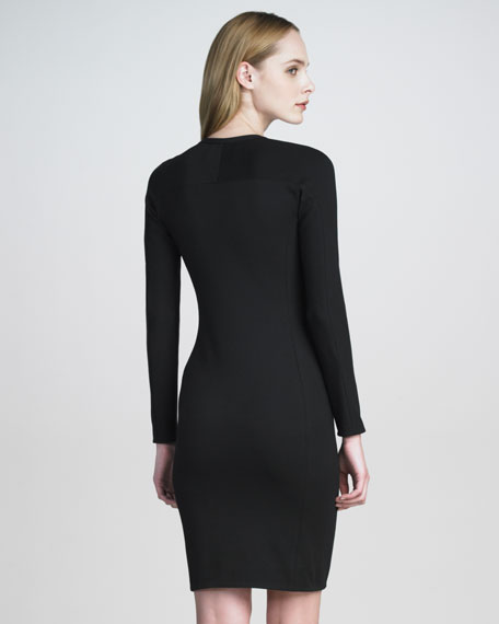 Ponte-Jersey Shadow Dress