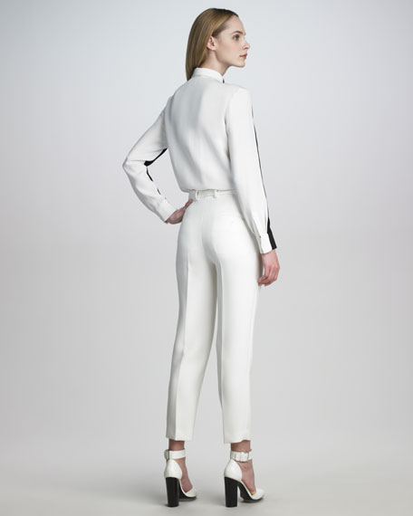 Scuba Cropped Trousers