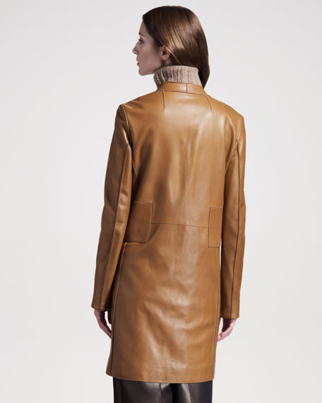 Long Leather Coat