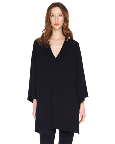 Detachable-Collar Poncho