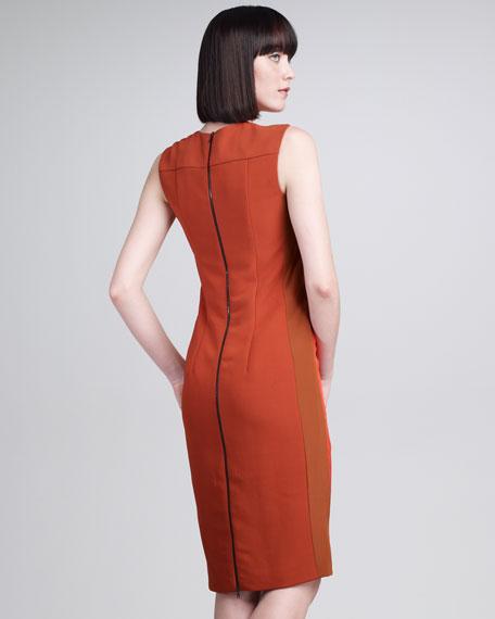 Bifabric Sheath Dress