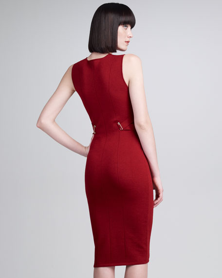 Banded-Side Sheath Dress