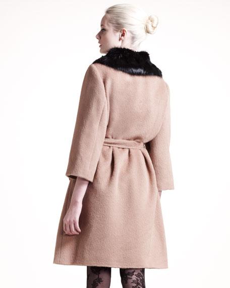Fur-Collar Coat