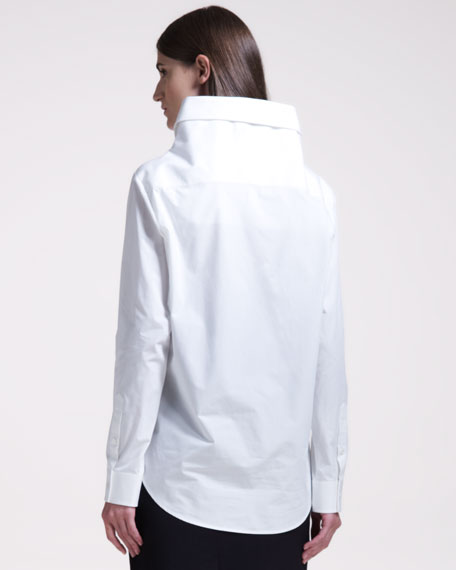Exaggerated Poplin Shirt