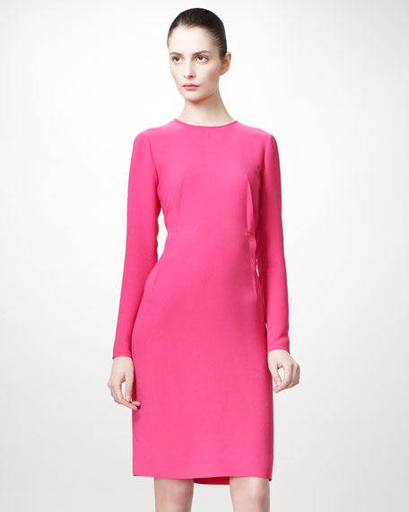 Darted-Waist Shift Dress