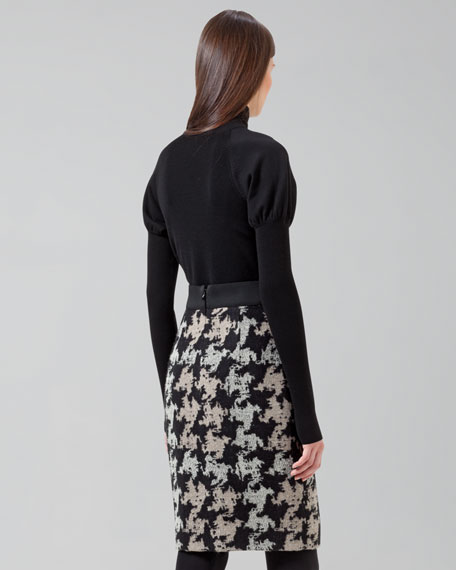 Exploded Houndstooth Skirt