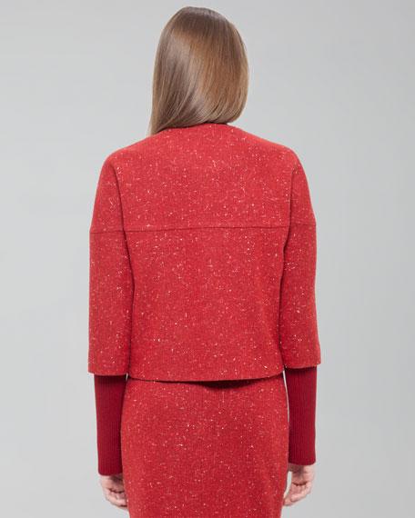 Tweed Half-Sleeve Jacket