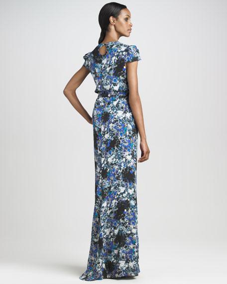 Aurelia Cap-Sleeve Gown