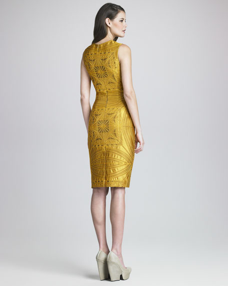 Vault Brocade Sheath Dress