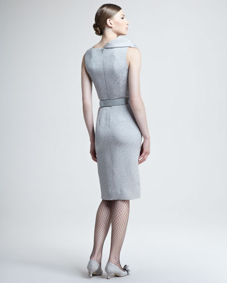 Silk Wool Jacquard Dress