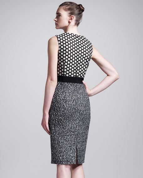 Lace/Tweed Combo Dress