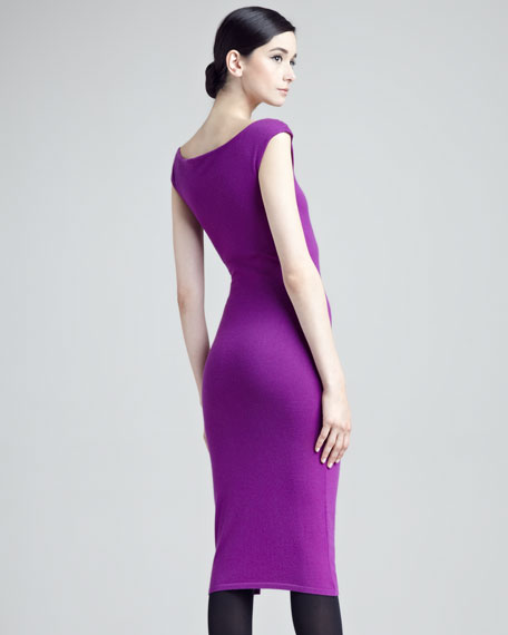 Cashmere Knit Sheath Dress