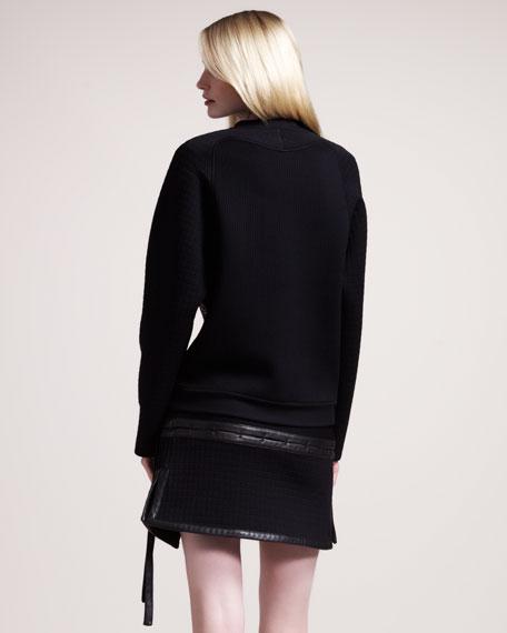 Jersey Wrap Miniskirt