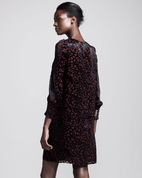 Honeycomb Velvet Dress