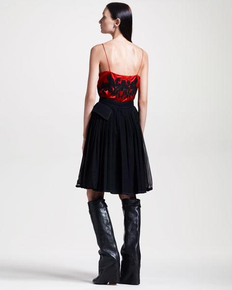 Chiffon/Tweed Skirt