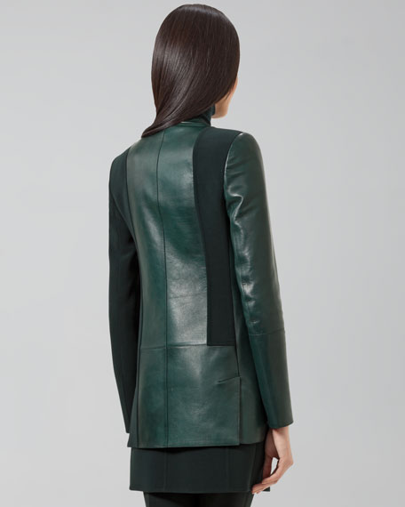 Doyle Leather-Paneled Jacket