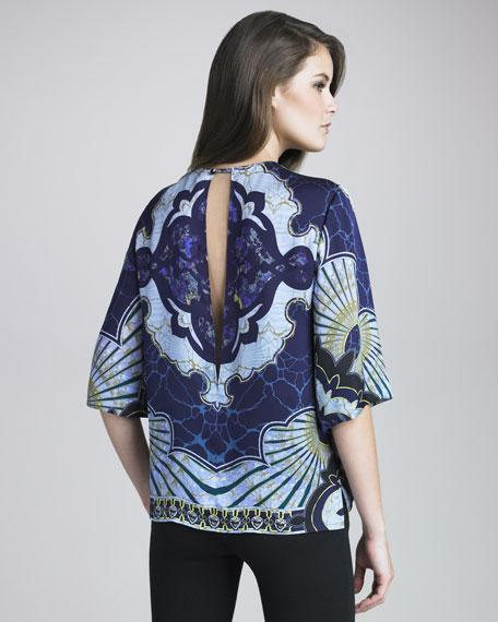 Printed Half-Sleeve Blouse