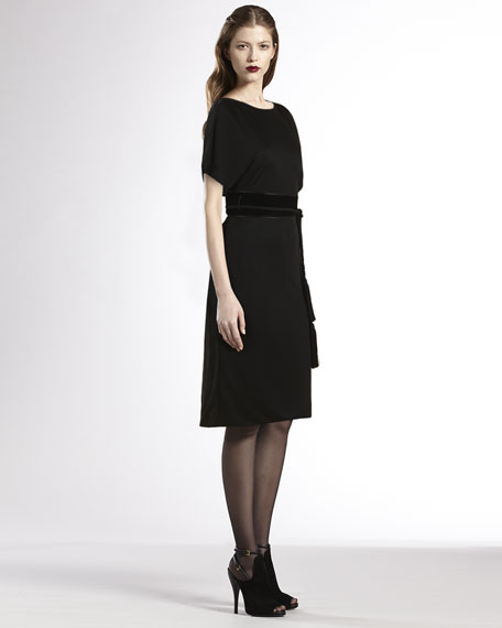 Boat-Neck Jersey Dress