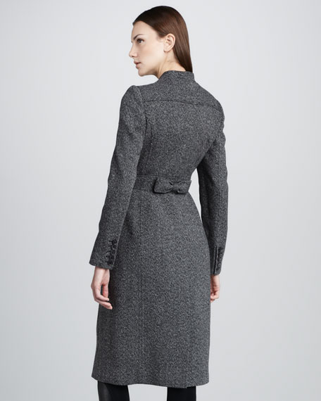 Compact-Tweed Princess Coat