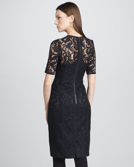 Lace Half-Sleeve Dress
