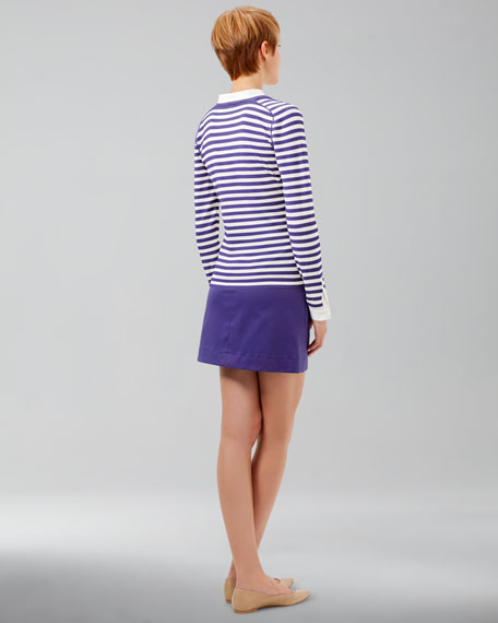A-Line Twill Skirt, Lavender