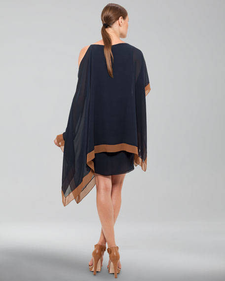 Dress with Asymmetric Shoulder
