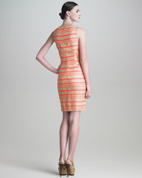 Striped Paneled Dress