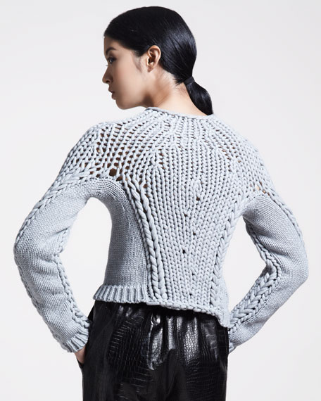 Seamless Chunky Hand-Knit Sweater